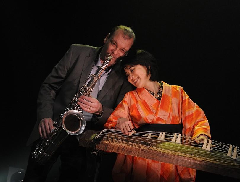 saxophoniste et autre musicien