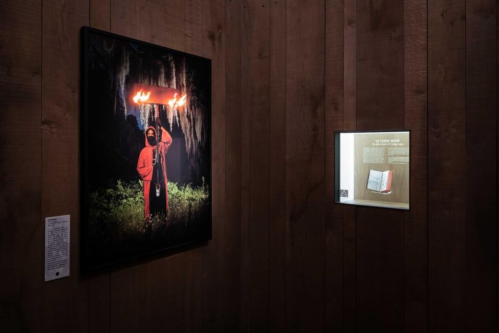 Scénographie de l'exposition Cimarron