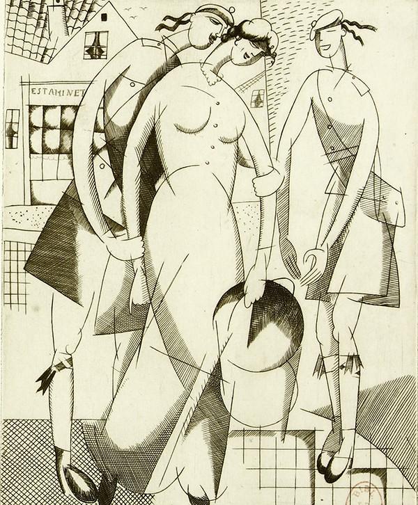 Dessin de femmes par Jean Emile Laboureur