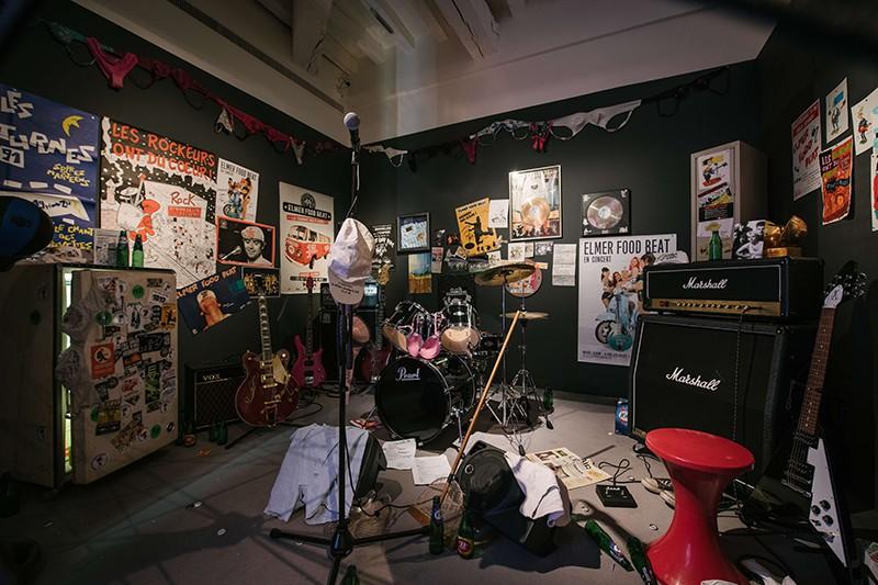 Scénographie de l'exposition Rock