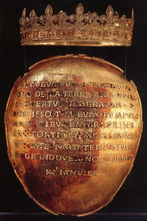 coeur d'Anne de Bretagne présenté dans l'exposition