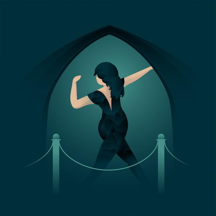 illustration de danseuse