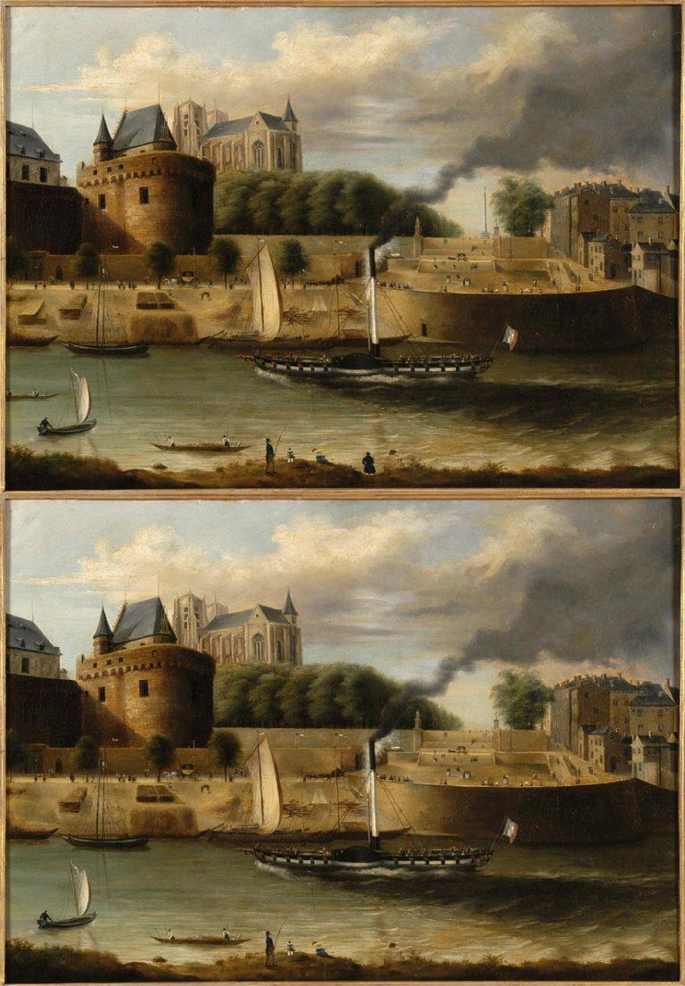 La Loire à Nantes avec vue sur le château et le cours Saint-Pierre